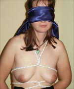 Amateur Tied and Blindfolded
