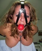 Bondage bitches ball gagged to shut up