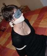 Mature Amateur Housewives tied, gagged and blindfolded