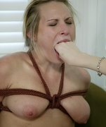 Harmony is face slapped and caned like no other women on the site has been. Her pussy is shocked, her tits are tied and she's fucked hard in doggy and missionary position, then Chanta sits her huge ass on Harmony's face for a nice deep session of analingus while fucking her cunt with a huge black dong