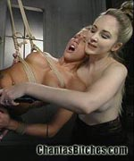 Cassie screamed, Kylie squirted, both begged for more, and then for it all to stop! Wrist suspension, fucking machines, bondage strap on sex and face sitting make this an update not to be missed.