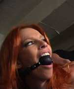 Marsha Lord is to be TJ's bondage sex slave for the day. She enjoys being flogged and the nipple clamps, she sucks cock like a hungry whore