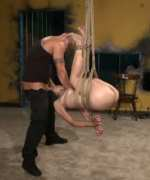Amber must work for every orgasm when Derrick tricks her into saying things that get bondage whores in trouble with their Dominants. Tight rope, nasty nipple clamps and lots of spanking get Amber's pussy wet for bondage fucking and rough anal sex