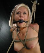 Innocent, Jasmine Jolie discovers a new side of herself when she is bound, flogged, fucked, spanked and choked with a large cock...