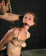 Kinky local model Sasha wanted to be tied up and fucked in the ass by a foreign Dominant with a big dick. She gets plenty of sadistic caning, rough anal fucking, and ball-gagged drooling in this intense BDSM scene