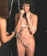 Slavegirl is tied and punished