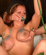 Slavegirl Gina Tormented, Gagged and Hotwaxed