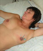 Lifestyle slavegirl in needle pain. Her master pierces her nipples with several needles
