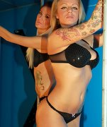 Two beautiful blondes under very hard whippings in the blue room