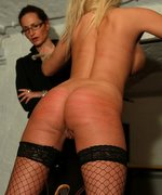 Interrogation of new blonde model Foxy in an outstanding paingate prison punishment