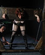 Hot chubby slavegirl in BDSM session