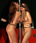 Lola and Xenia in an exceptional harsh double bullwhipping punishment