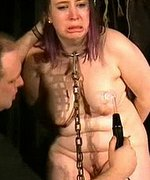 Extreme bondage on crying slavegirl