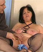 Mature slut is made to suffer with electricity and needles