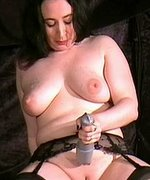 Slave girl is forced to inflict electro-shock pain on herself